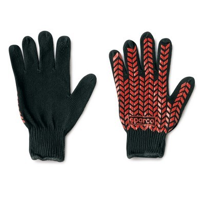 COTONE BLACK GLOVES SPARCO PRENSILI