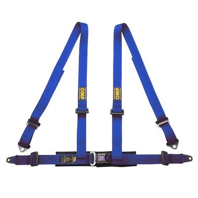 4-POINT HARNESS BLUE OMP ROAD 4