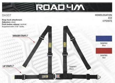 4-POINT HARNESS RED ROAD 4M OMP
