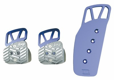 3 PEDALS SET BLUE ANODIZED ALUMINUM