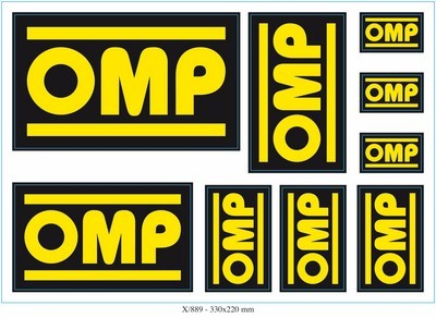 9 OMP ADHESIVES DIFFERENT SET MEASURES