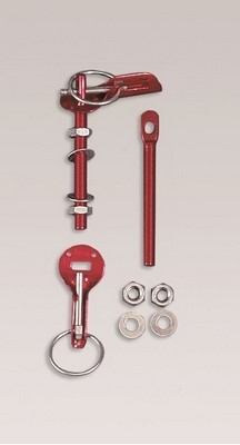 PAIR BONNET PINS RED