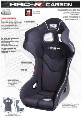 HRC-D SEAT BLACK SIZE L