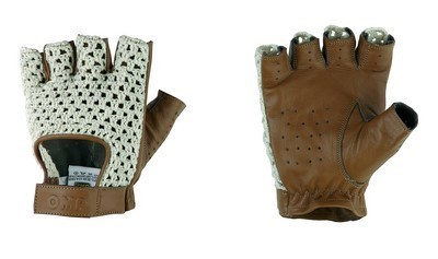 GUANTES OMP TAZIO:VINTAGE  CREAM/MARRON LEATHER TALLA