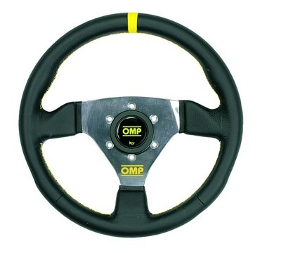 """300"" OMP BLACK LEATHER STEERING WHEEL"