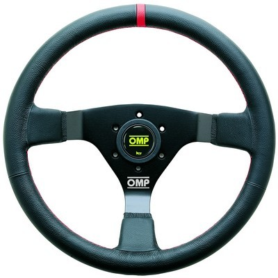 RACING WHEEL OMPS WRC SCHWARZ / ROT DIAM 350