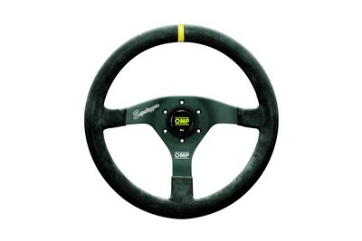VELOCITA 'SUPERLEGGERO: DIAMETER 350MM SUEDE LEATHER STEERING WHEEL OMP  HANDGRIP OVAL: 30X25MM COLO