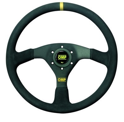 OMP STEERING WHEEL SUEDE 35CM LEATH 3SP