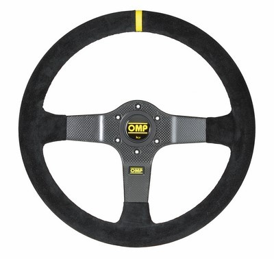 SUEDE STEERING WHEEL OMP RALLY LEATH NEGRO