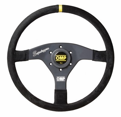 OMP STEERING WHEEL BLACK FLAT VELOCITA'OV SUPERLEGGERO DIAM 320 MM