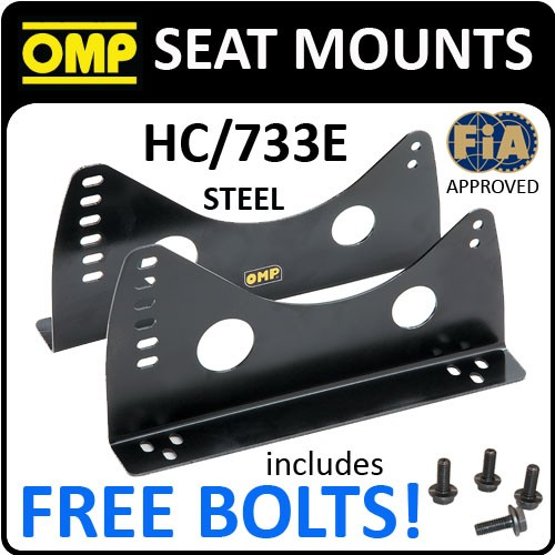 SEAT SUPPORTS PAIR WITH SIDE INSERTS STEEL 3MM THICK BLACK