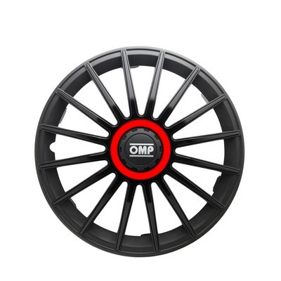 "HUBCAPS OMP 13 ""BLACK / RED"