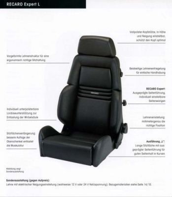 RECARO EXPERT EXPERT M (LT/W) DINAMICA  (MADE BY ORDER)/ARTIFICIAL LEATHER BLACK PILOT&COPILOT