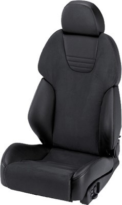 RECARO AM19 STYLE TOPLINE DINAMICA BLACK/LEATHER BLACK COPILOT