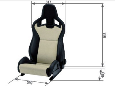 RECARO CROSS SPORTSTER CS AIRBAG ARTIFICIAL LEATHER BLACK COPILOT