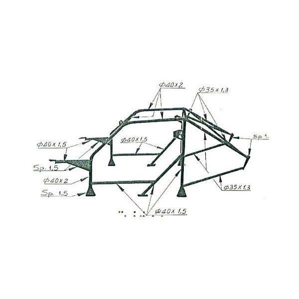 SÉRIE DELTA OMP CAGE 1º LANCIA HF 4WD-INT. 16V 79_94 MP-B CR-MO