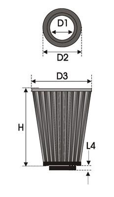 FILTRO UNIVERSAL CONICO K2.40