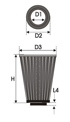 UNIVERSAL FILTER TAPERED K4.55