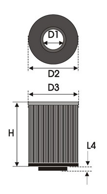 UNIVERSAL FILTER CILINDRICAL B1.10