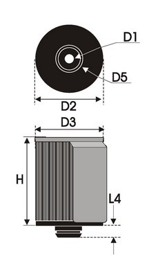 UNIVERSAL FILTER CILINDRICAL BSP2.13