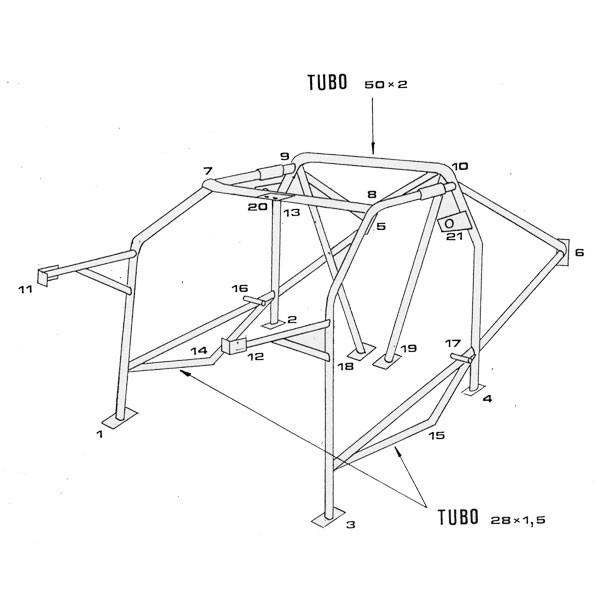 CAGE SPARCO LANCIA / DELTA AUTOBIANCHI HF / INTEGRALE / 4WD / EVO 09 / 87_04 / 93