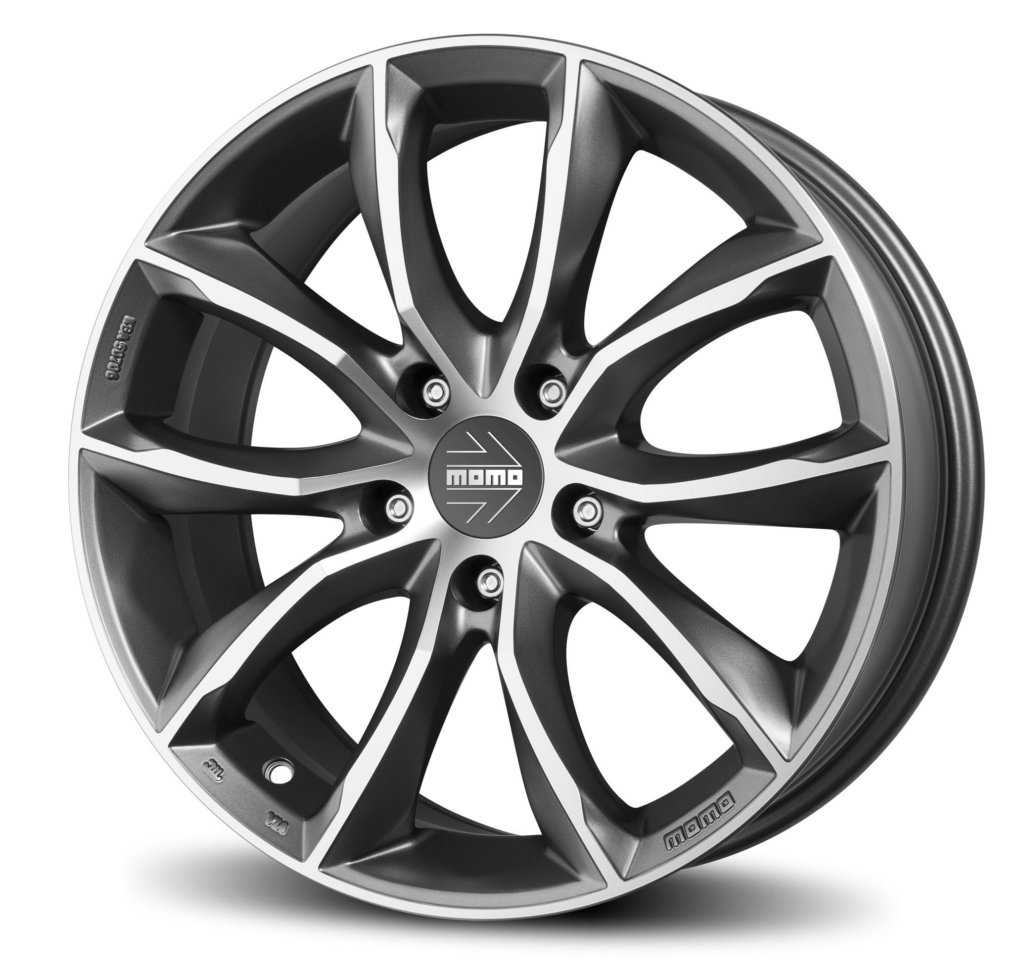 Felge Momo Scream Jet Evo 8,0 X 17 Et40 5X114,3 72,3 Matt Anthracite D. Cut Via