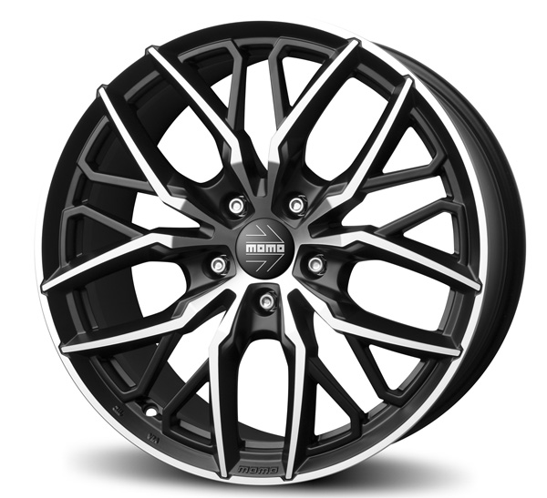 Rim Momo Spider 8,5 X 20 Et45 5X114 72,3 Matt Black D. Cut Via
